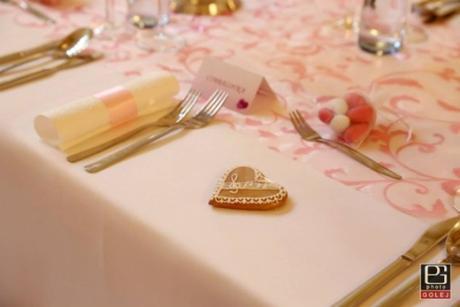 Prenájom štóle na stôl- ružová so vzorom,