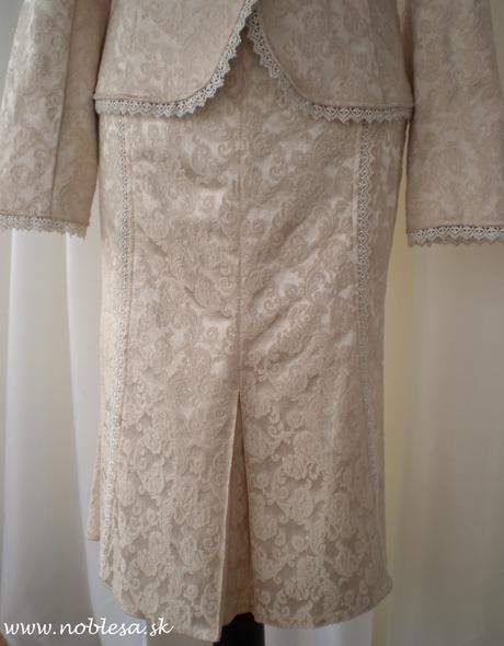 Sukňový kostým aj pre svadobné mamy vel 40, 40