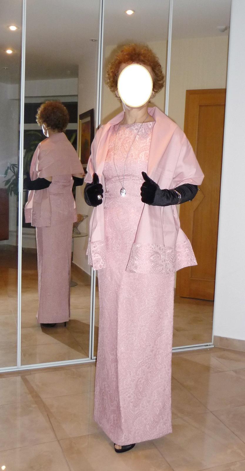 2feac7994b87 Dlhé spoločenské šaty so štólou