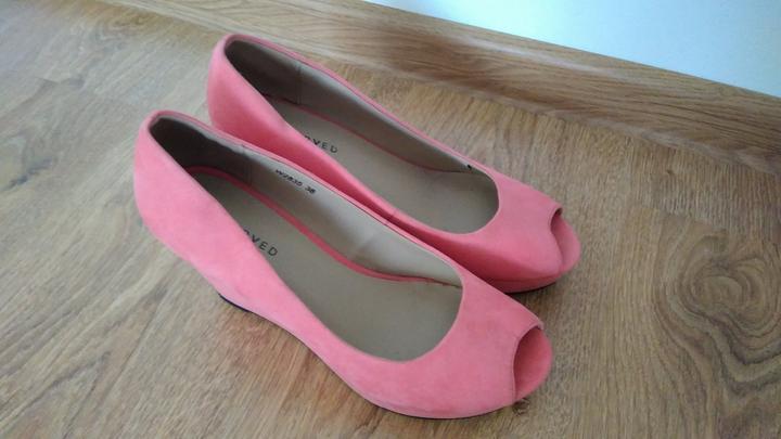 81782d5e96d22 Lososové topánky na platforme, 38 - 13 € | Svadobný bazár ...