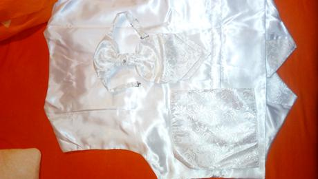 Svadobna vesta, kravata, vreckovka, 46