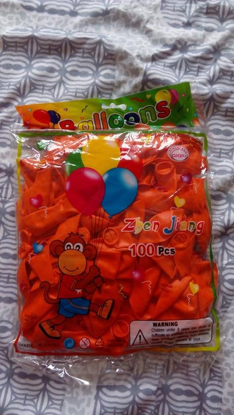 Oranžové balóny 100 ks Nepoužité,