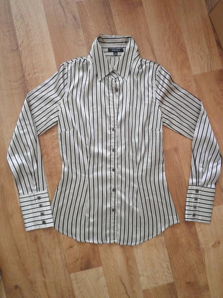 Lesklá pruhovaná košile zn. Amisu, XS