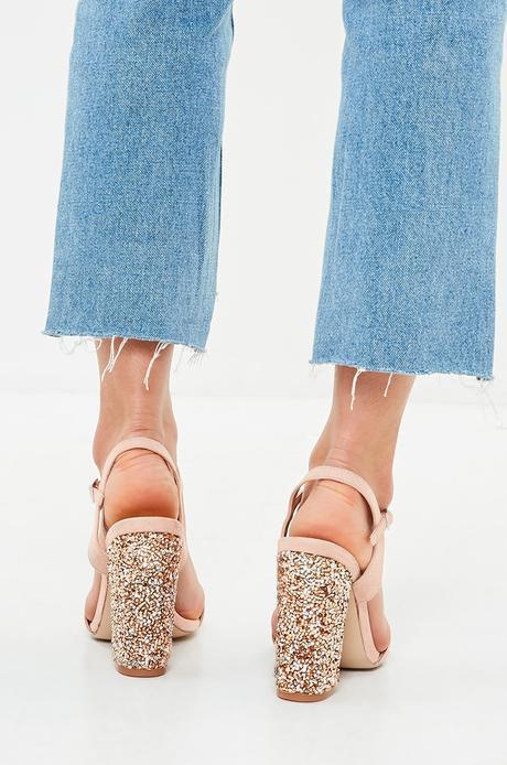Púdrovo ružové sandále z kolekcie Missguided, 41