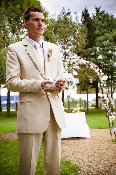 Pánsky svadobný oblek  veľ.52, 52