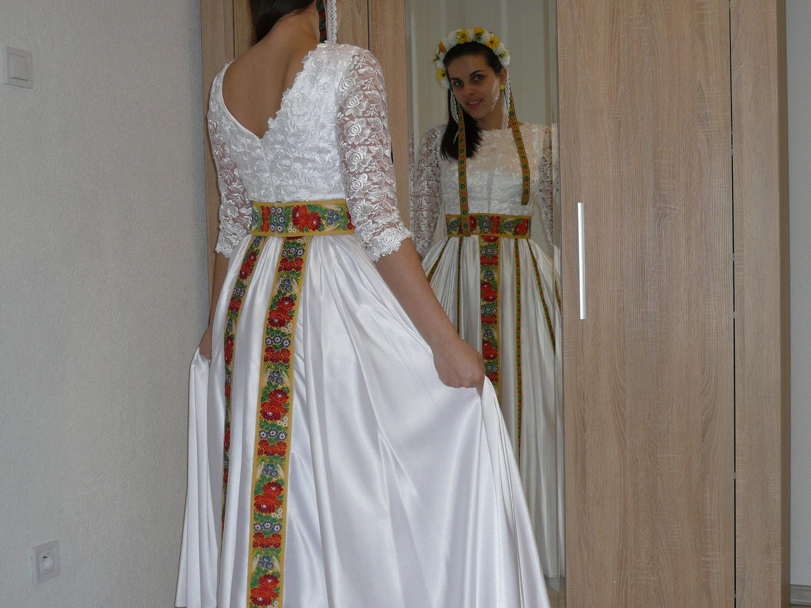 9eac51ac0075 Folklórne svadobné šaty