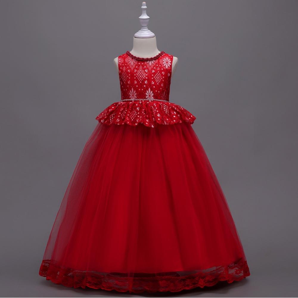 Detské šaty c00724 - červené f9815110e6f