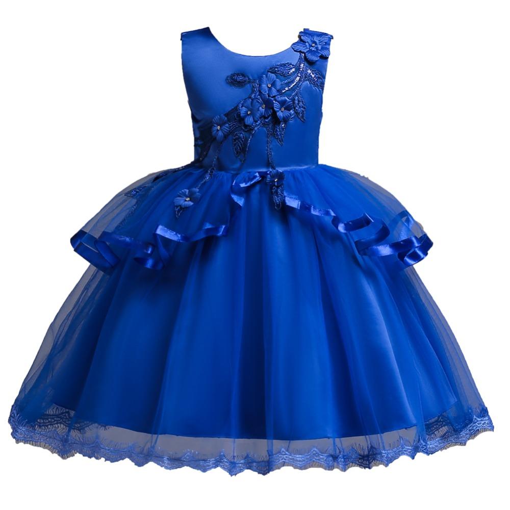 Detské šaty c00725 - modré (110 - 152) a51c695c7f2
