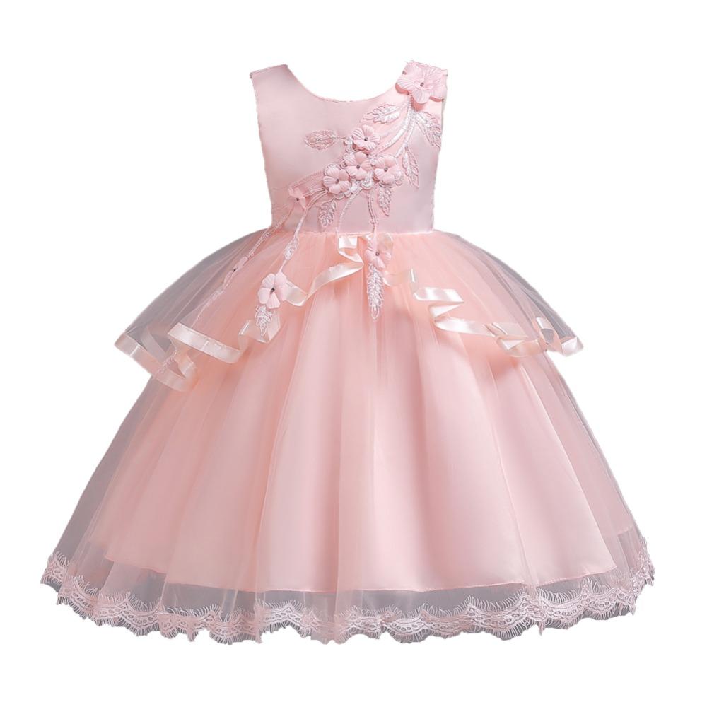Detské šaty c00725 - sl. ružové (110 - 152) 28ea3480a19