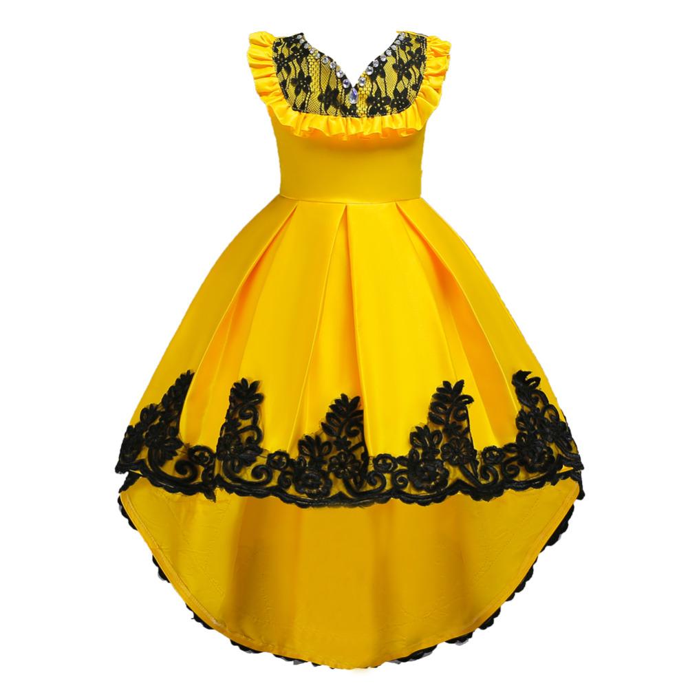 cc3cc6817626 Detské šaty c00728 - žlté (110 - 164)