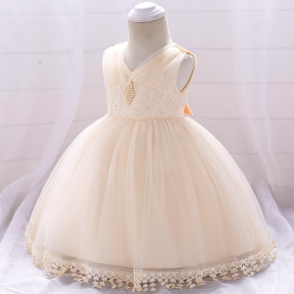 2bd21907d064 Detské šaty l1835xz - krémové (74 - 98)