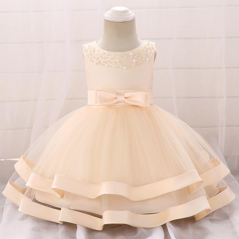 46e3371d99ba Detské šaty l5017xz - krémové (74 - 98)