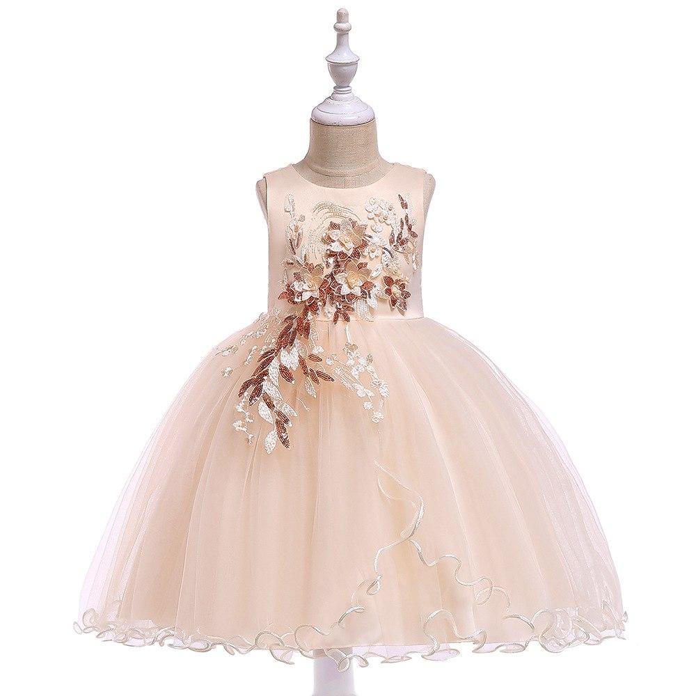 549261405c4d Detské šaty l5060 - krémové (110 - 146)