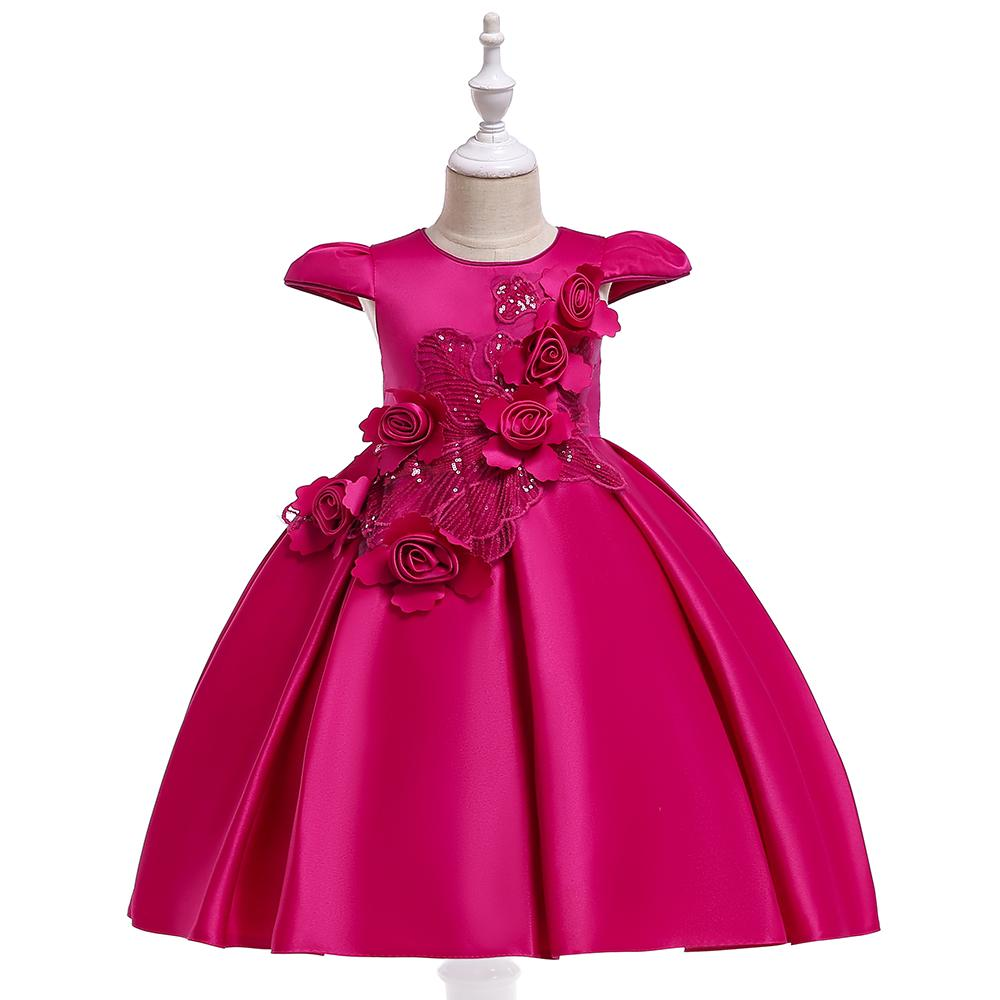 f3455d743665 Detské šaty l5070 - ružové (110 - 146)