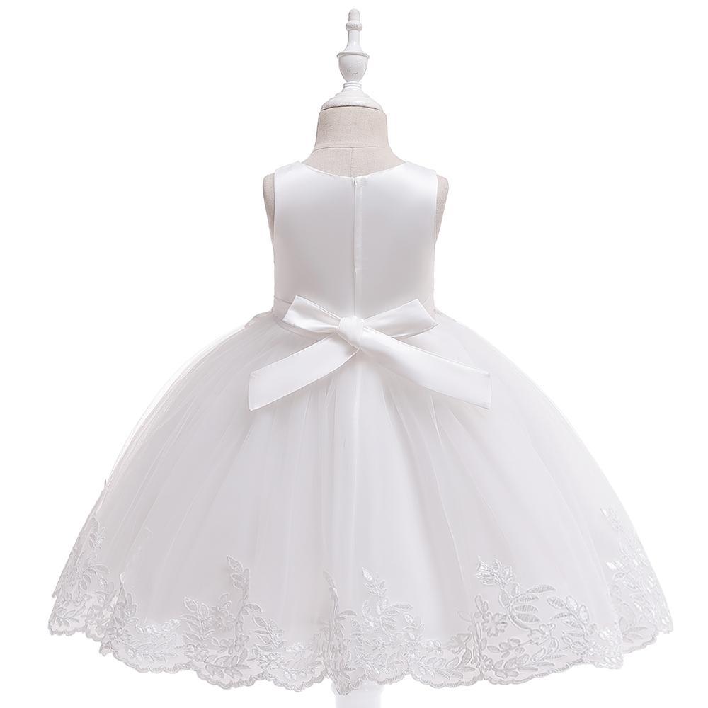 7bc5ed2d161f Detské šaty l5097 - biele (110 - 146)