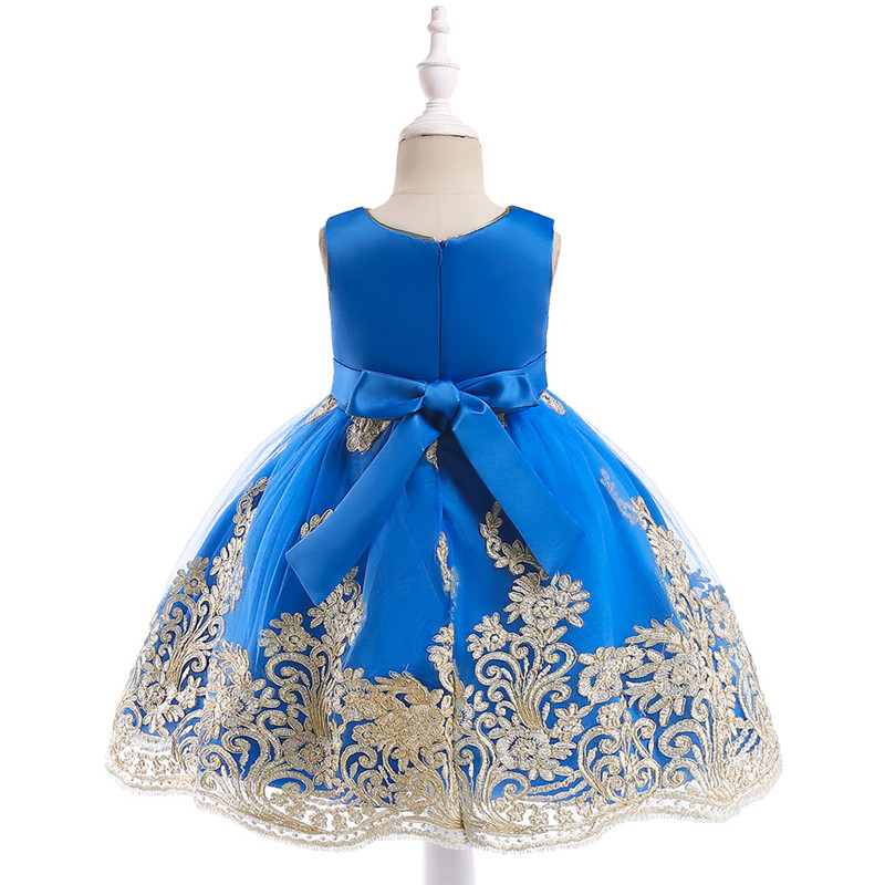 852f57548735 detské šaty L9027 - modré (98 - 146)
