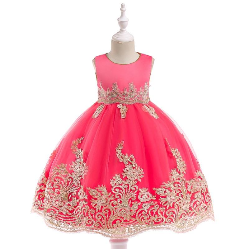Detské šaty l9029 - ružové (98 - 146) 36743471873