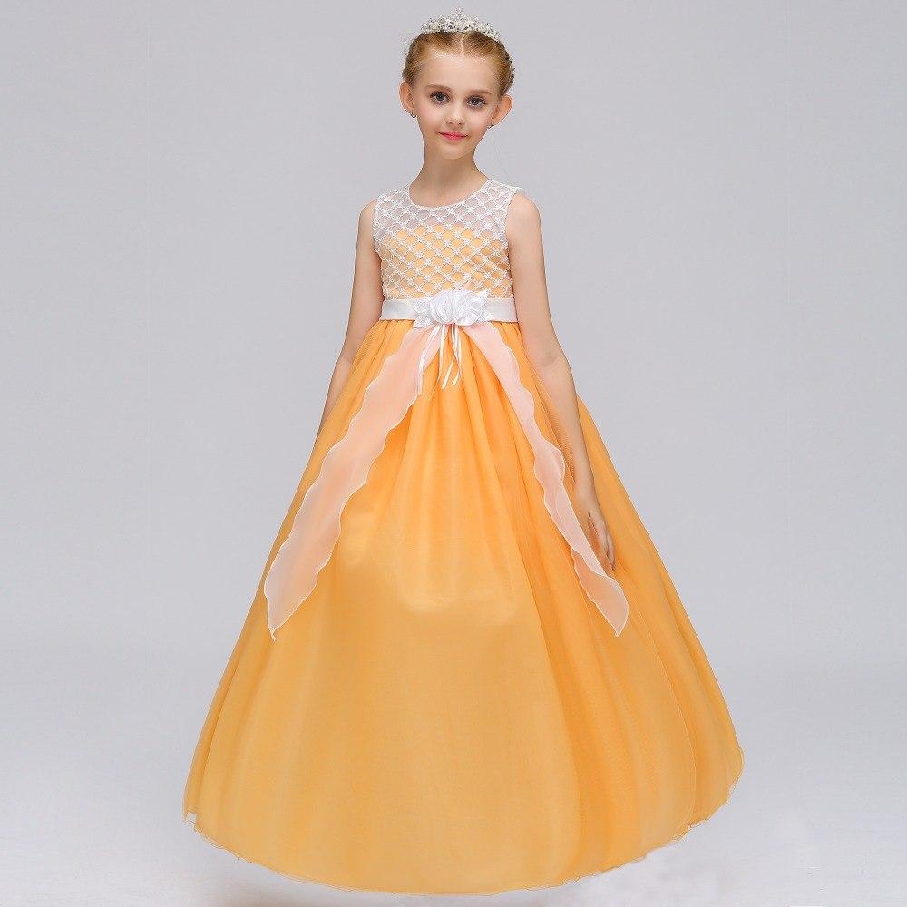 Detské šaty lp74 - žlté (122 - 164) d630e4f009b
