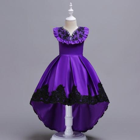 Detské šaty C00728 - fialové (110 - 164), 116