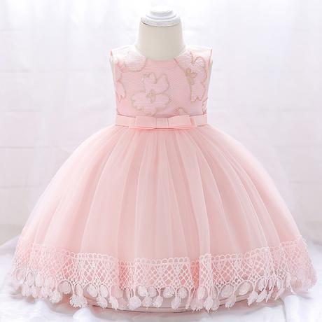 detské šaty L1843XZ - sl. ružové (74 - 98), 92