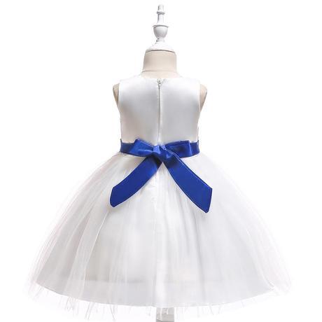 Detské šaty L5022 - modré (110 - 146), 134
