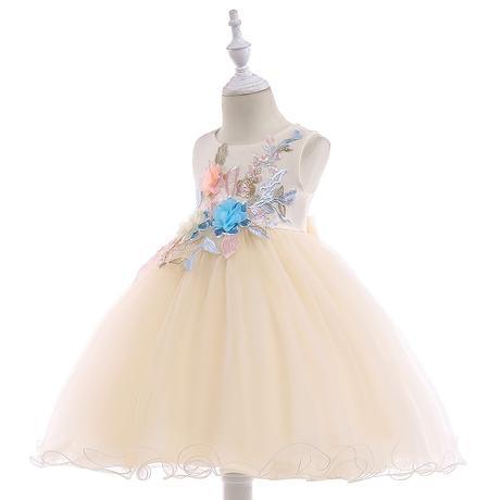 detské šaty L5029 - krémové (110 - 146), 116