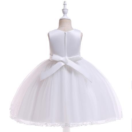 detské šaty L5060 - biele (110 - 146), 116