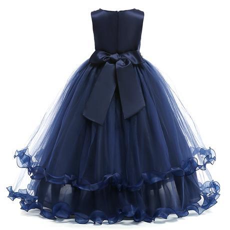 detské šaty LP76 - modré (122 - 164), 128