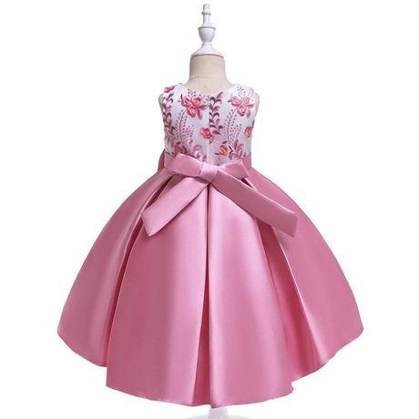 detské šaty T5087 - ružové (110 - 146), 134