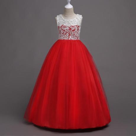 detské šaty WGL-569 , červené (122 - 164), 140