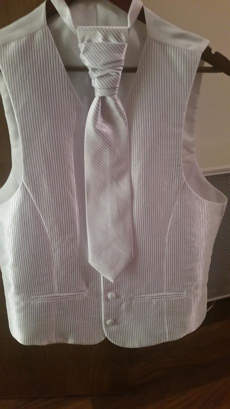 svadobna vesta+kravata+trojuholnik na vreckovku, 50