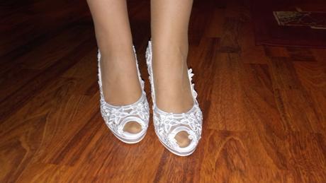 krajkové svatební boty, 37