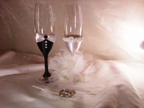 Stylove svadobne pohare,
