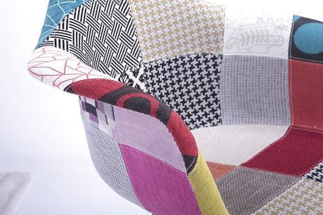 Stolička Mia patchwork - SKLADOM,