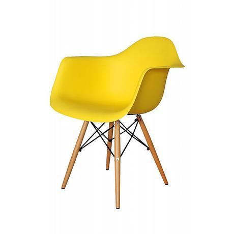 Stolička Mia žltá,