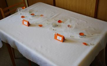 od profíků v restauraci to bdue vypadat asi líp :-) ale odstíny oranžové jsem tipla parádně