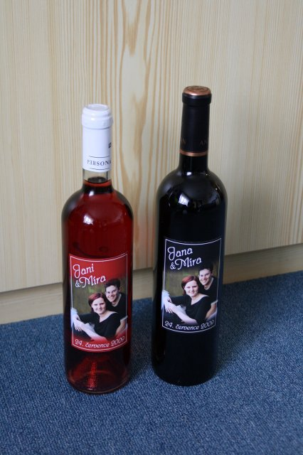 MíJa 24.7.2009 - vína jako poděkování pro rodiče