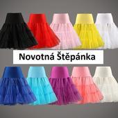 Barevné krátké spodnice, 50.léta,