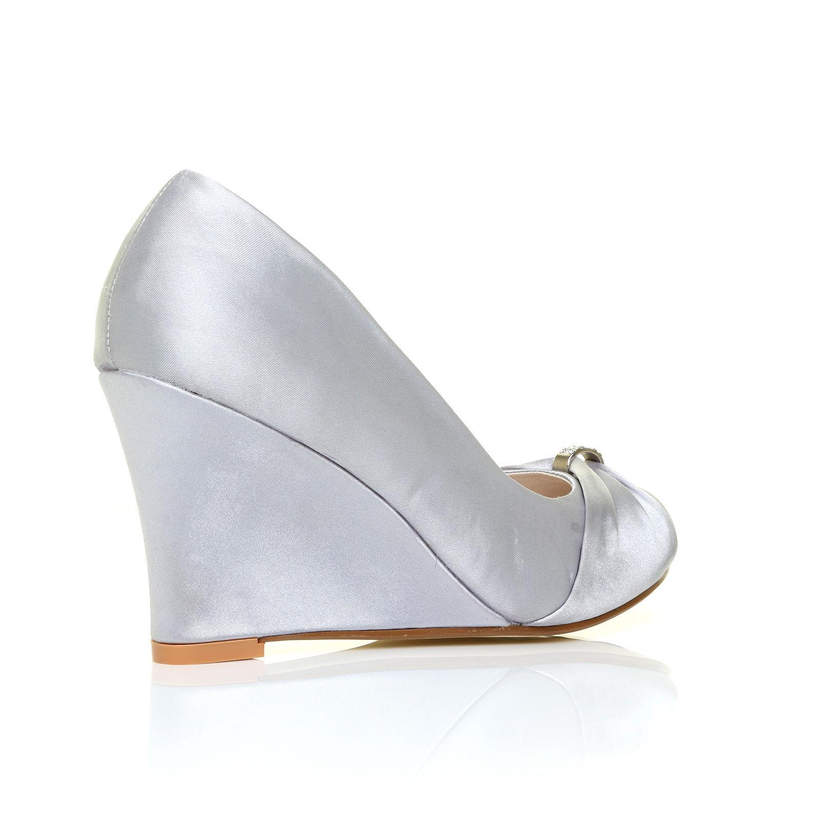 Stříbrné společenské boty, klínek, 36-41 - Obrázek č. 2