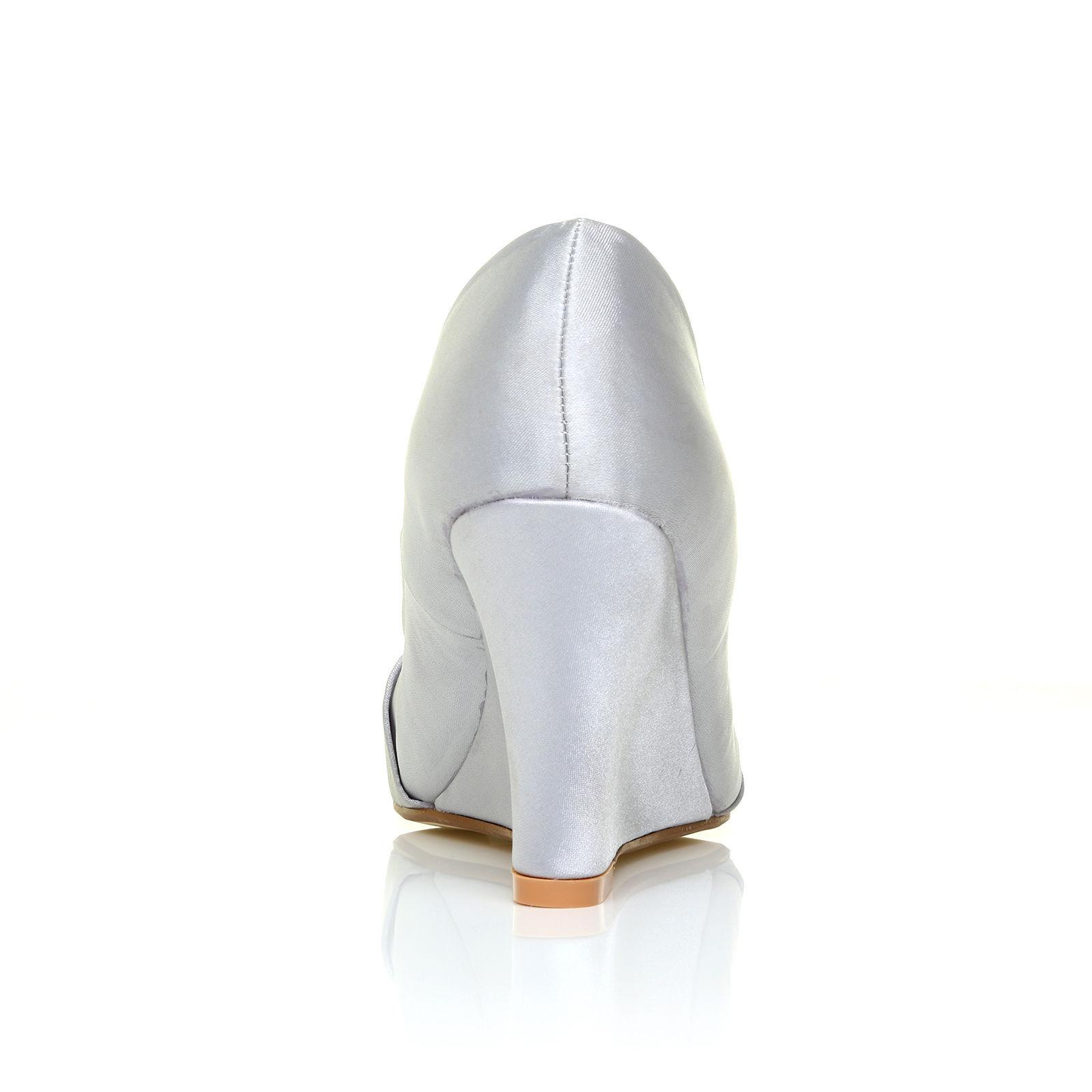 Stříbrné společenské boty, klínek, 36-41 - Obrázek č. 3
