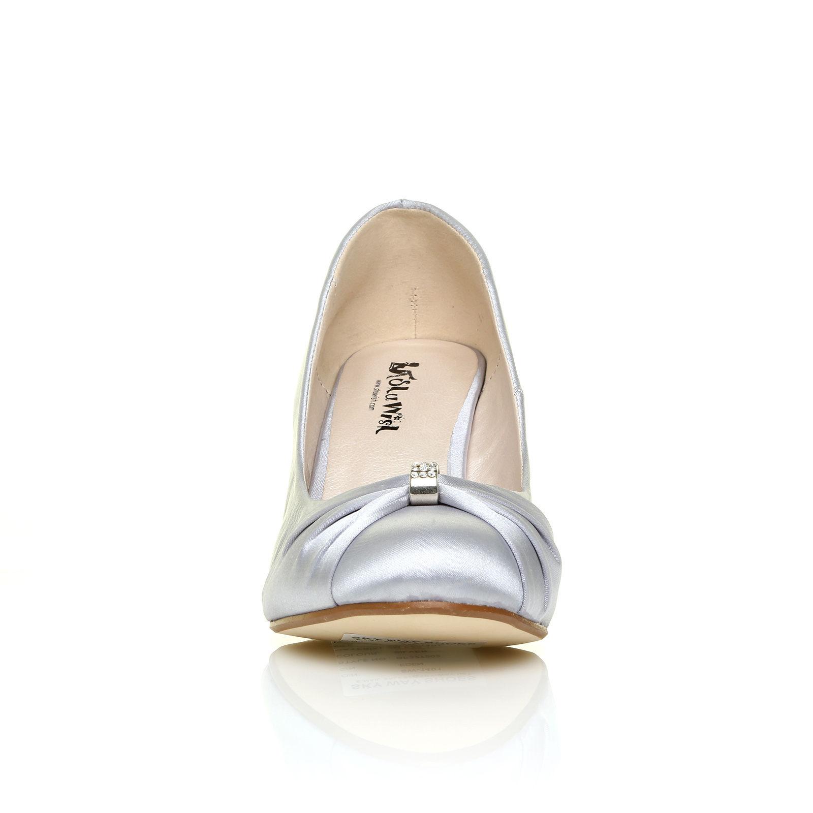 Stříbrné společenské boty, klínek, 36-41 - Obrázek č. 4