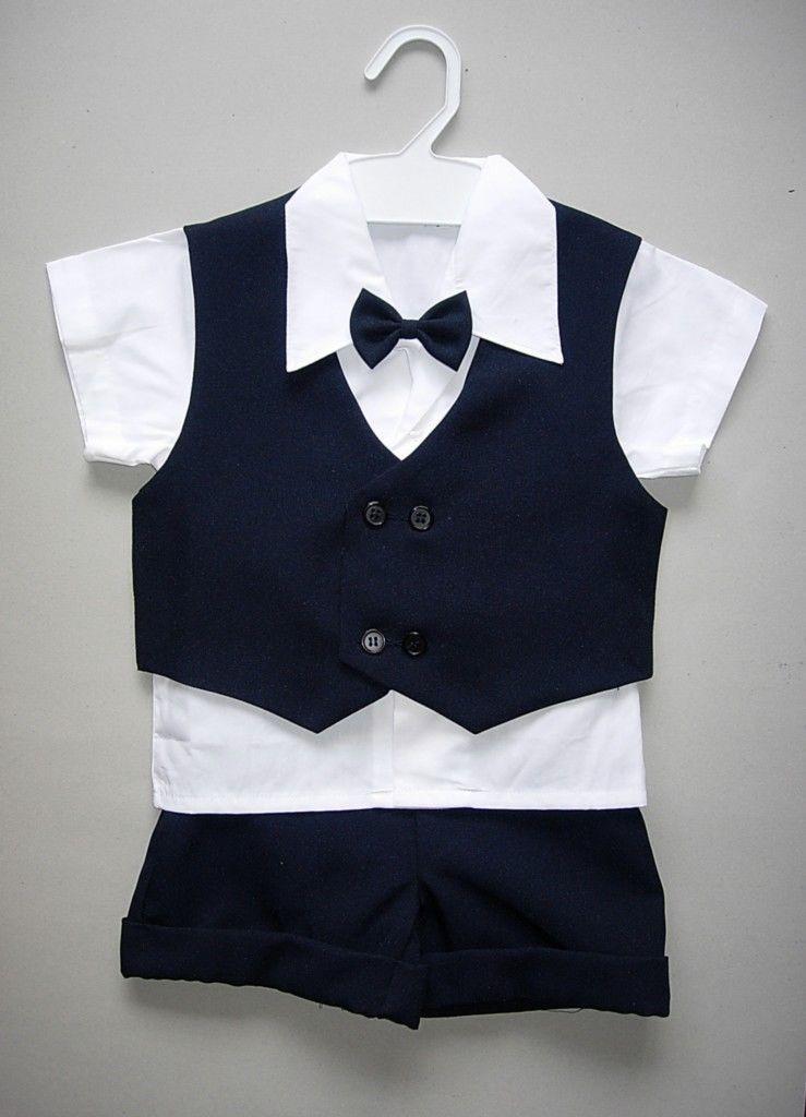 Letní tmavě modrý oblek 6m-3 roky - půjčovné - Obrázek č. 1