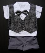 Letní šedý oblek 6m-3 roky - půjčovné, 74