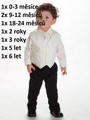 Oblek krémový, 5-6 let - půjčovné , 122