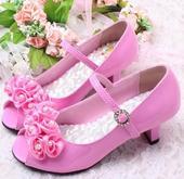 Růžové společenské sandálky, 29-35, 29