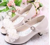 Ivory svatební sandálky, 29-35, 30