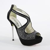 Černé společenské sandálky, 36-41, 41
