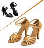 Zlaté, černé plesové, taneční boty, 35-42, 35