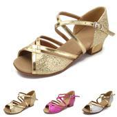 Zlaté, růžové, stříbrné taneční boty, sandálky, 32