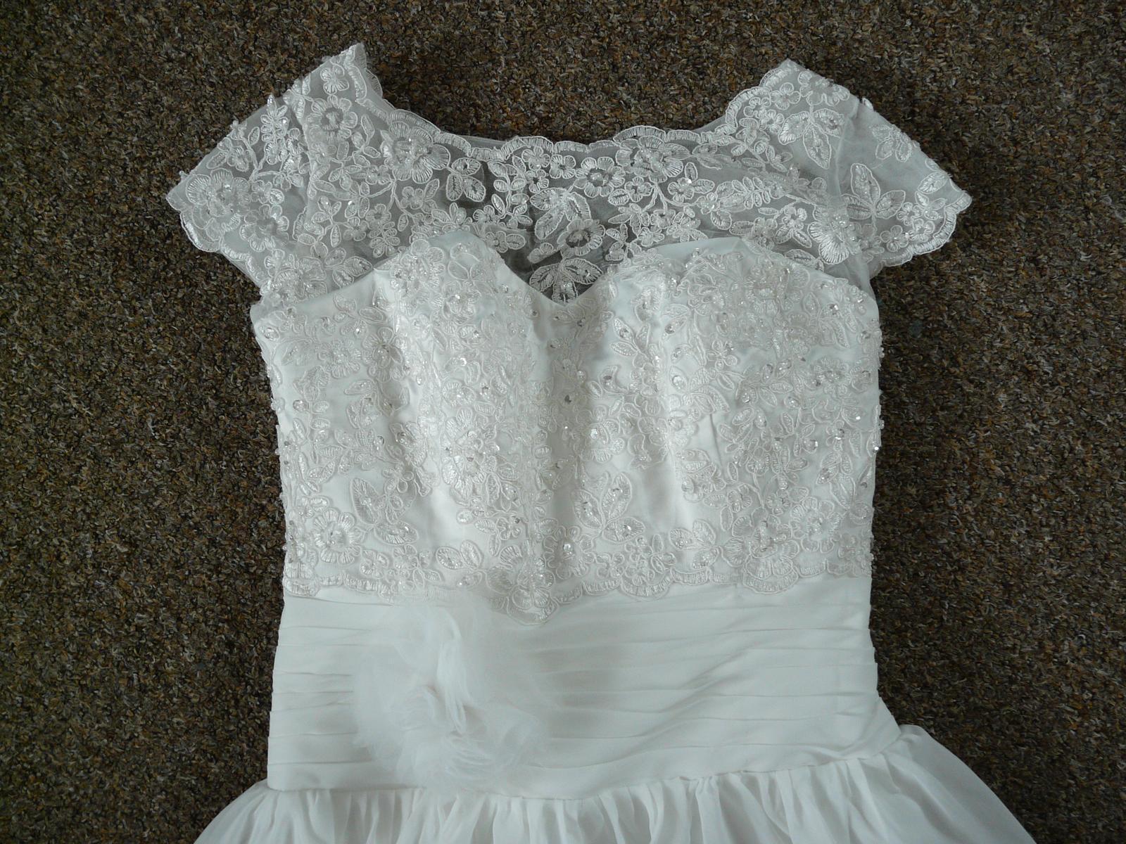 Ivory krátké svatební šaty, různé velikosti, reáln - Obrázek č. 2
